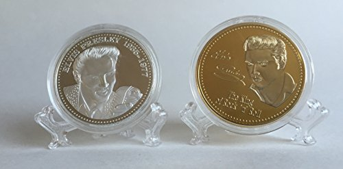 Set of 2 (1 silver, 1 gold plated) Elvis Presley Collecti...