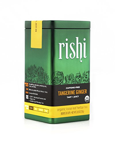 Rishi Tea Organic Tangerine Ginger Loose Leaf Herbal Tea, 2.65 Ounces Tin