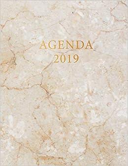 Agenda 2019: Agenda settimanale con calendario 2019 | Marmo ...