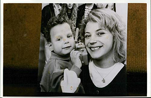 Vintage photo of Liver transplantation: mother shelly with her son clark.