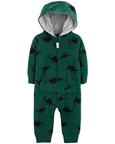 Carter's Baby Boys' One Piece Fleece Jumpsuit Dino, ()