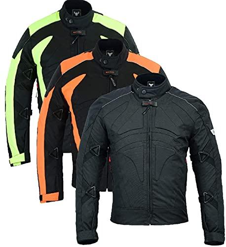 BULLDT Motorradjacke Cordura Textilien kurze Jacke, Farbe:Schwarz, Größe:54/XL