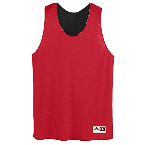Augusta Sportswear Men's Tricot mesh Tank, Red/Black, Large