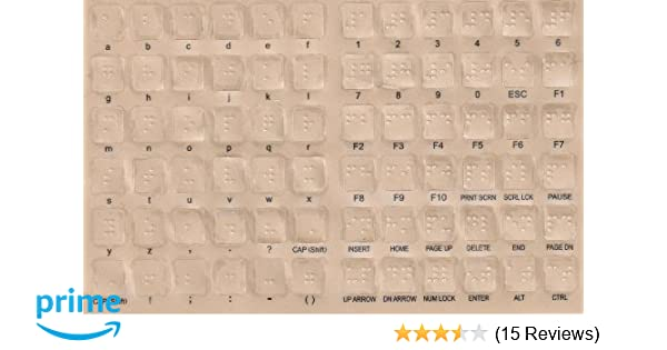 Amazon.com: Braille Keyboard Stickers for the Blind and Visually Impaired: Health & Personal Care