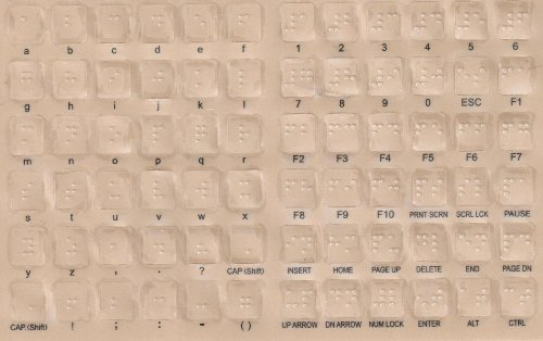 Braille Keyboard Stickers for the Blind and Visually Impaired by DataCal