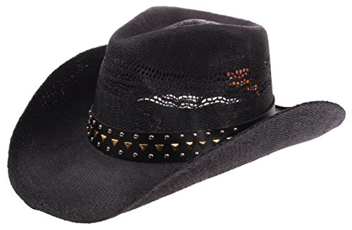 8392e3cee097c Enimay Western Outback Cowboy Hat Mens Womens Style Straw Felt ...