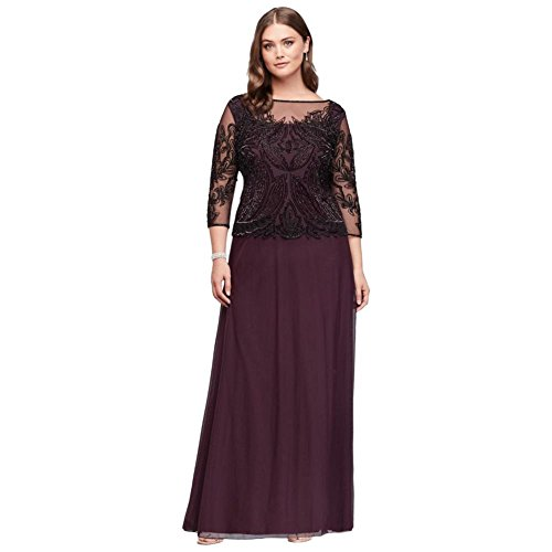 7adb886a93c Home Bride Dresses David s Bridal Sequined and Beaded Mesh Plus Size Mother  Of Bride Groom Dress Style D1545Q.   