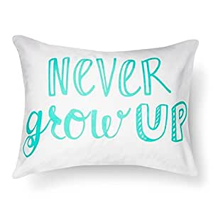 Pillowfort Standard Pillow Sham - ''Never Grow Up'' - 20'' x 26'' (1)