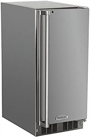 AGA Marvel 25OiM-SS-F-R Outdoor Under-Counter Crescent Ice Machine Right Hinge Stainless Steel Door 15-Inch