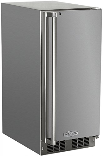 AGA Marvel 25OiM-SS-F-R Outdoor Under-Counter Crescent Ice Machine, Right Hinge Stainless Steel Door, 15-Inch (Ice Marvel compare prices)