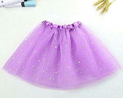 Otros. Falda tutú de tul con purpurina para niñas de 2 a 8 años ...