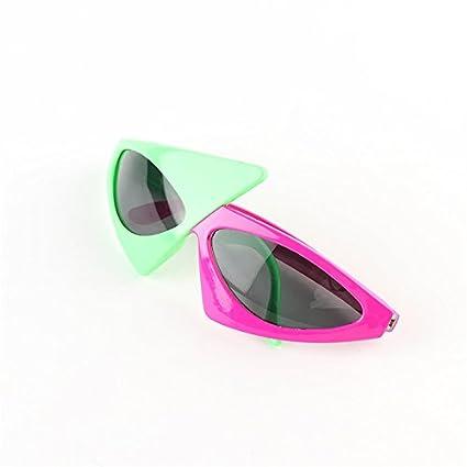 Amazon.com: Keebgyy - Gafas triangulares de 2 colores con ...
