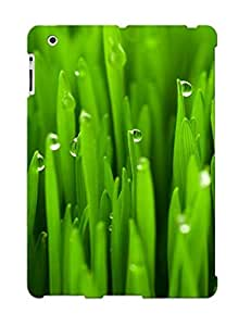 Facb0cc452 New Premium Flip Case Cover Grass Macro Dew Drops Water Skin Case For Ipad 2/3/4 As Christmas's Gift