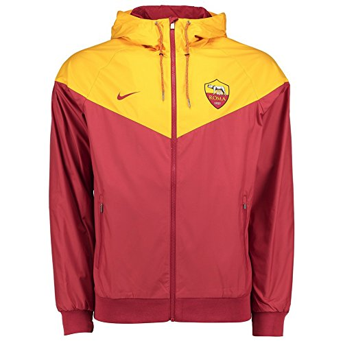 fan products of AS Roma Windrunner Jacket 2017 / 2018 - Maroon/Yellow - L