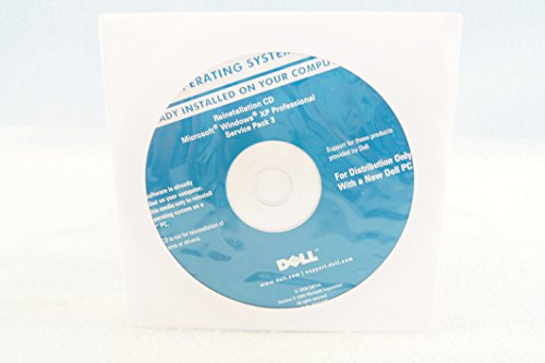 Dell Operating System Reinstallation CD Windows XP Professional Service Pack 3-Year 2009 Part Number R272R PC Install Software Disc Program-Sealed New -
