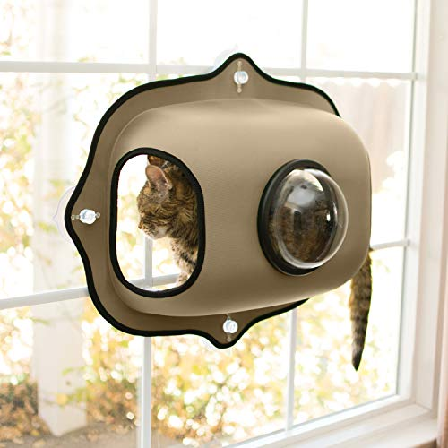 K&H Mascotas | Cápsula de Burbuja para Ventanas de EZ | Cápsula para Gatos en el umbral de la Ventana | con Vistas a la Ventana