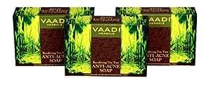 Vaadi Herbals Anti Acne Becalming Tea Tree Soap 3x75g by Vaadi Herbal