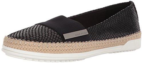 Klein Flat Womens Shoes (Anne Klein Women's Zilya Espadrille Flat Sneaker, Black Reptile, 7 M US)