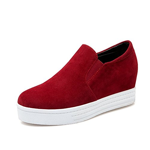 Btrada Fashion Loafers Sneakers for Women,Hidden Wedges Shoes,Pull-on Platforms,Comfortable Walking Shoes by Btrada