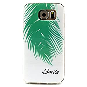 For Samsung Galaxy S6 G950 Case, FocusUp Soft Ultra Slim Thin Shock Proof Lightweight Bumper Crystal Clear Proctective Shell Skin Cover Design Pattern 1