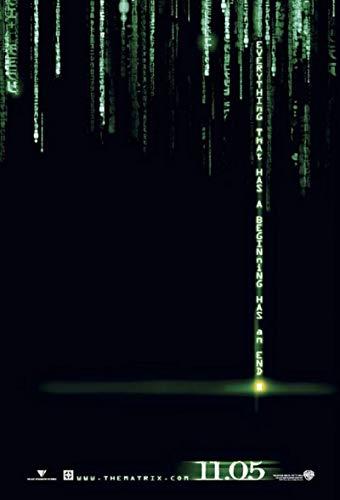 The Matrix Reloaded 2003 S/S Hologram Teaser Rolled Movie Poster 27x40]()