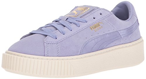 PUMA Women's Suede Mono Satin Platform, Sweet Lavender-Whisper, 8.5 M US (Sandals Purple Suede)