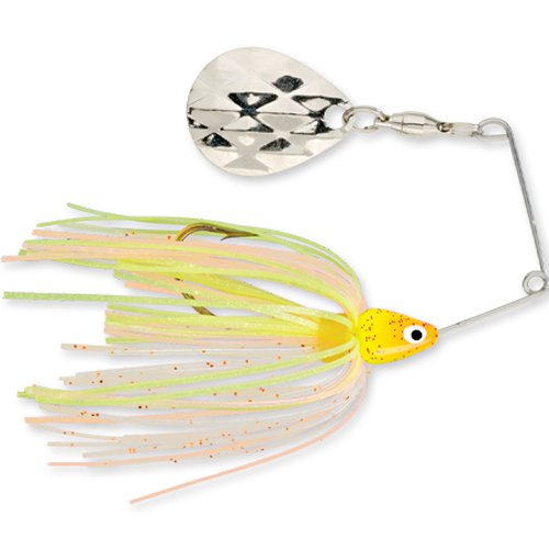 Strike King Mini-King Spinnerbait - Single Colorado Diamond Blade (Sun Perch Head Sun Perch Skirt, (0.125 Ounce Lure)
