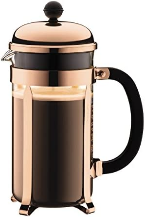 BODUM 1928-18 Chambord French Press Coffee Maker, 34 Oz, Copper Shatterproof