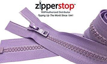 ZipperStop Distributor YKK® - 30 Inches Sport Vislon Jacket Zipper, YKK® #5 Molded Plastic Separating - Medium Weight Made in USA (Clay Brown (912 Distributor)