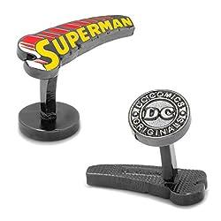 DC Comics Men's Vintage Superman Comic Book Cufflinks (DC-SMCM-BK)