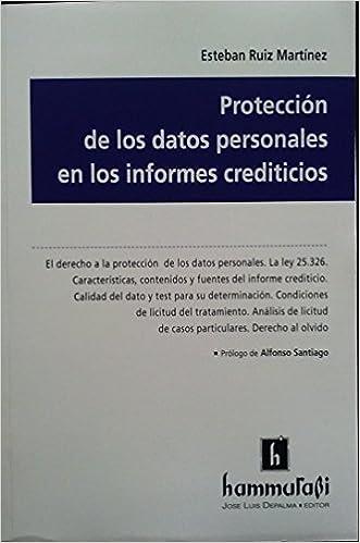 Protección de los datos personales en los informes crediticios