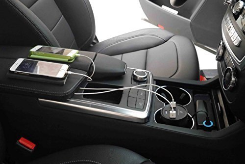 iXCC 50W/10A 5 Ports Car Charger Multi USB Ports Cup Holder Fast Charging Adapter for iPhone 7 6 6s Plus, iPad Air Pro mini, Galaxy S8 S8+ S7 S6 Edge Note or More - Black