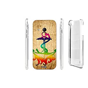 FUNDA CARCASA EFECTO MADERA ANCHOR TRIBAL PARA HTC ONE MINI 2