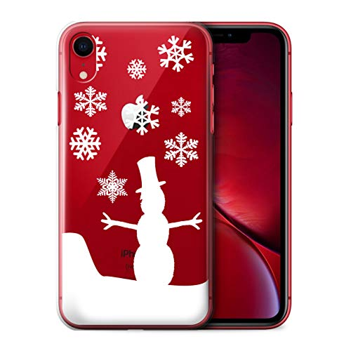 eSwish Phone Case/Cover for Apple iPhone XR/Snowman Design/Frozen Christmas Season Collection
