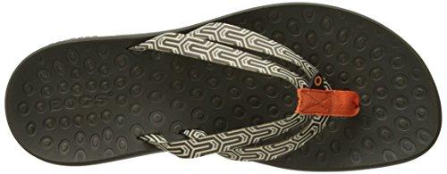 Bogs Womens Hudson Geo Webbing Waterproof Sandal Tangerine/Multi