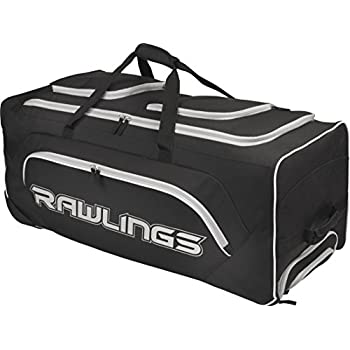 Amazon Com Rawlings Yadi Wheeled Catcher S Bag Black