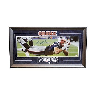 452ded04ff2 Image Unavailable. Image not available for. Color  Rob Gronkowski New  England Patriots Signed Autographed Panoramic Photo Framed