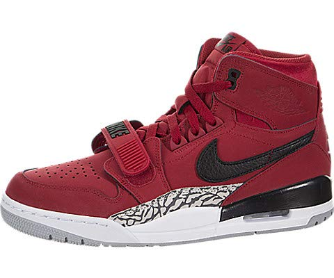 Nike Jordan Legacy 312 - Men's Varsity Red/Black/White Leather Basketball Shoes 10 D(M) US ()