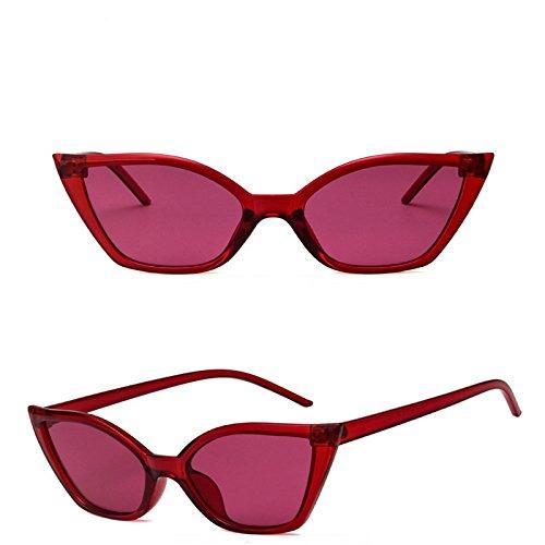 para Sol Deportiva Sol de de Portección la Gafas Mujer de Gafas Conducción Retro Ojo Gato Polarizado Moda UV Forma de Resina Nikgic F Tq81Un8