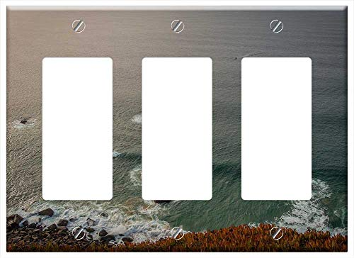 Switch Plate Triple Rocker/GFCI - Cabo Da Roca Portugal Reef Sea Ocean