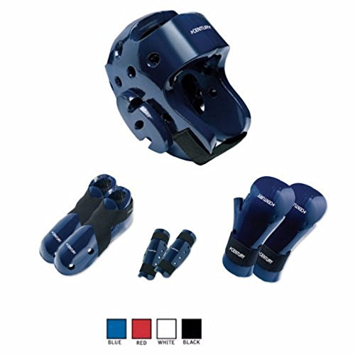 BlackBeltShop Century Karate 7 pc Sparring Gear Combo Set with shin Guards