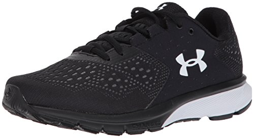 Under Armour Women's Charged Rebel, Black/Rhino Gray/White, 8.5 B(M) US (G Under Womens Armour Shoes Micro)