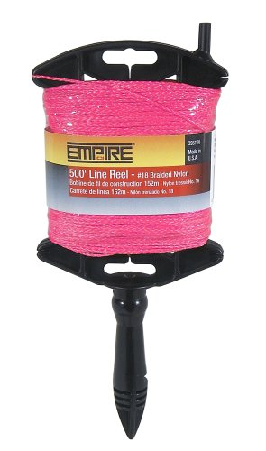 Empire Level 39514N Construction Line Reel, 18 by 500-Feet, Pink Braided Line by Empire Level