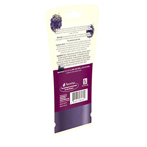 AVEENO Absolutely Peel Off Antioxidant Face Mask with Alpha Acids, Blackberry Complex, Non-Comedogenic oz