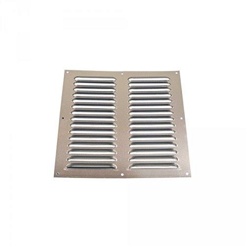 Grille plate aluminium pare-pluie 150 x 200 mm