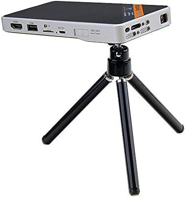 Mini portátil WiFi Smart DLP proyector con trípode para cine en ...