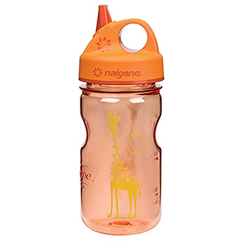 Nalgene Grip 'n Gulp Giraffe Bottle, Orange
