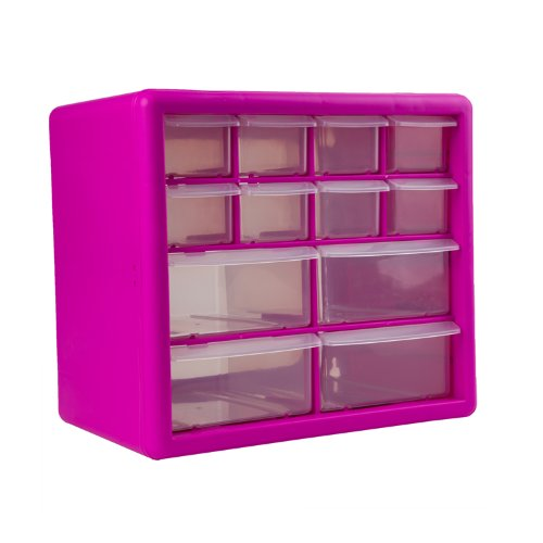 The Original Pink Box PB12SPB 12-Drawer Small Parts Organizer Pink  sc 1 st  Amazon.com & Storage Bins for nails and Screws: Amazon.com