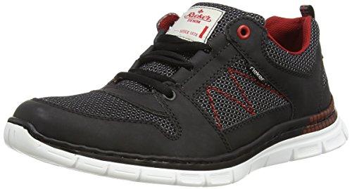 Rieker B4813 Sneakers-Men Herren Low-Top Schwarz (Schwarz/Schwarz / 00)
