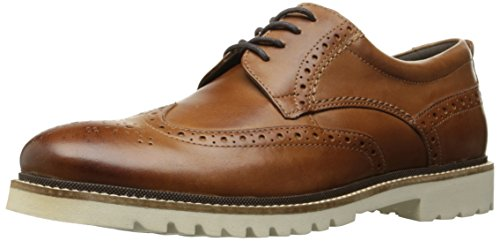 Rockport Men's Marshall Wingtip Oxford, Cognac Leather, 10 M US
